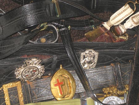 Knight Templar sword belts